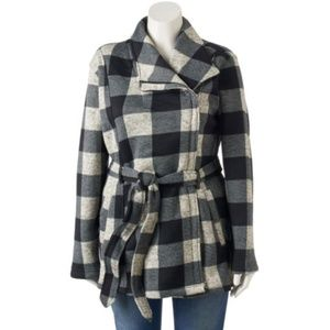 Madden Girl Side Zip Plaid Jacket               2C